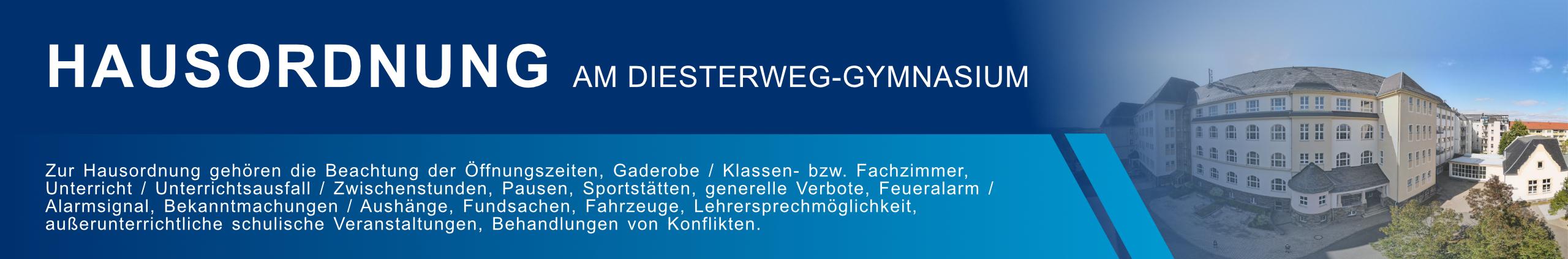 Hausordnung am Diesterweg-Gymnasium