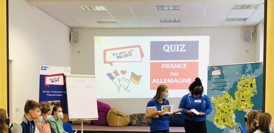 Frankreich zu Besuch im Klassenzimmer – das France Mobil macht's möglich